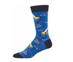 Men Socks - Buzzted Blue