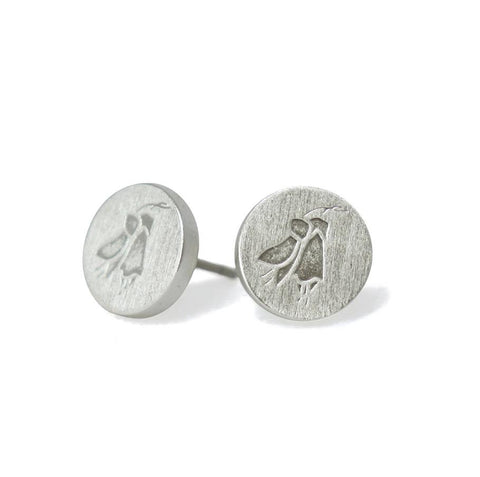 Cutie Kōwhai Silver Earrings
