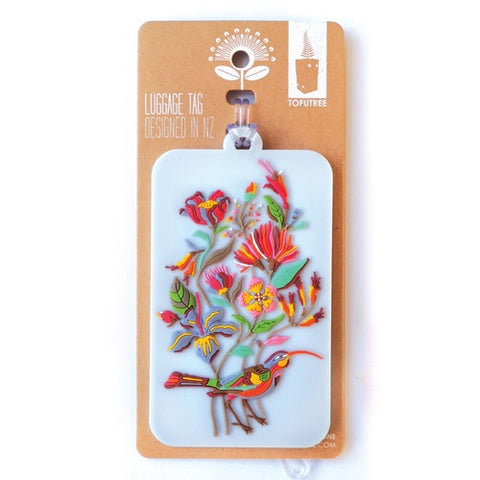 Bag Tag - Huia & Floral