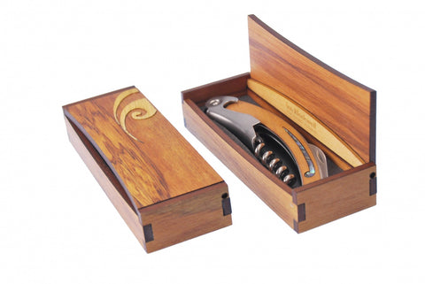 Corkscrew Koru in Rimu Box
