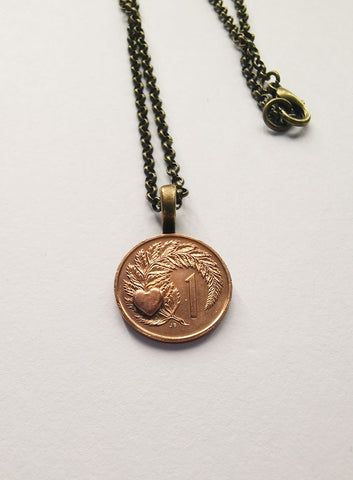 Re-minted Petite Coin Pendants - One Cent