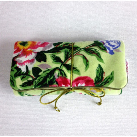 Spring Bloom Lime Jewellery Bag