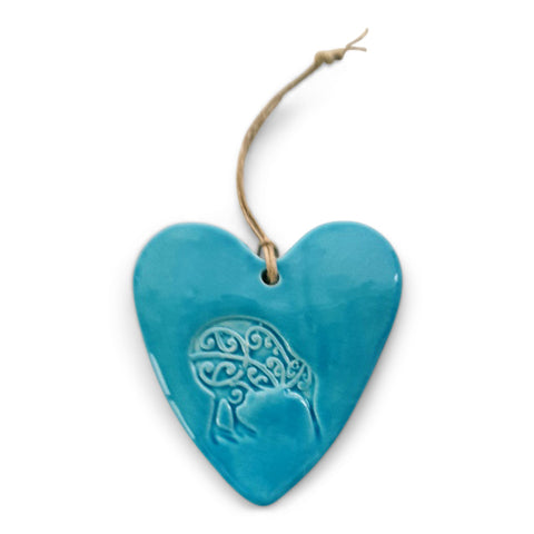 Ceramic Imprint Heart Kiwi
