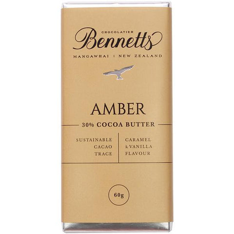 Amber Chocolate Bar Bennetts Chocolate