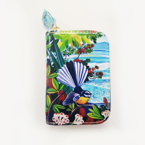 Fantail and Irises Coin Purse