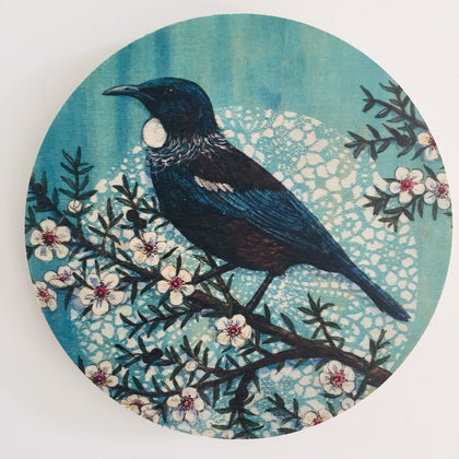 Blue Tui - Plywood Wall Art