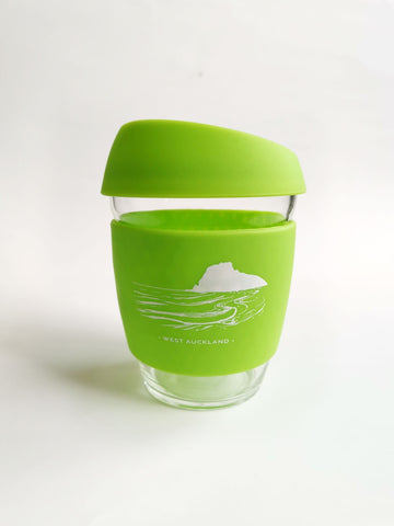 Reusable Glass Cup - Lime
