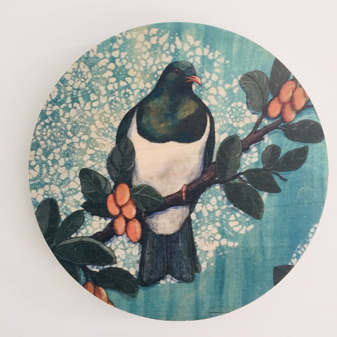 Blue Kereu/Wood Pigeon - Plywood Wall Art