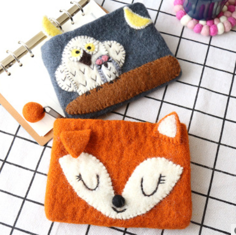 Wool Felt Pouch - Fox