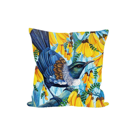 Cushion Cover - Tui Kowhai