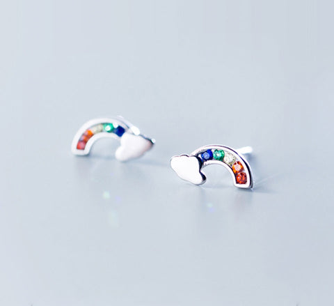 Colourful Rainbow Studs