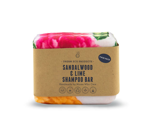 Sandalwood & Lime Shampoo Bar - Twin Pack