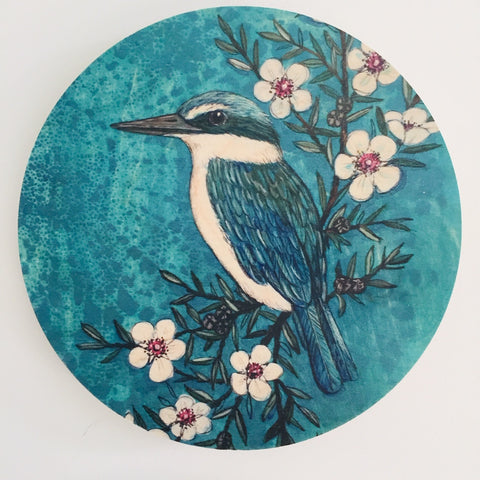 Blue Kingfisher - Plywood Wall Art