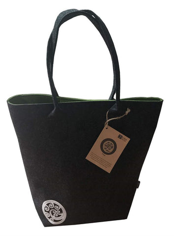 Ponga Green & Grey Shoulder Tote Bag