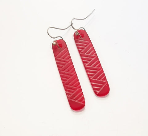 Glass Earrings – Weaving Design