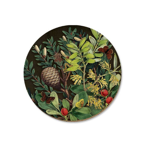 NZ Coaster - Pine Cone & Berries