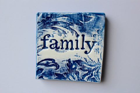 Square Tile - Blue Family