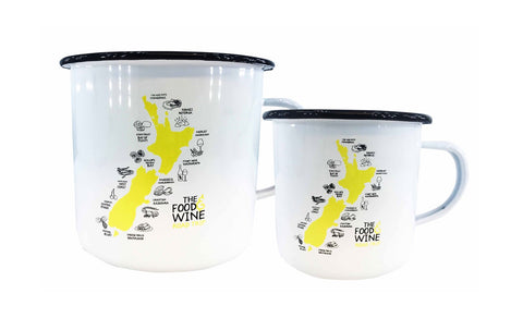 Enamel Mug - Food & Wine S & L