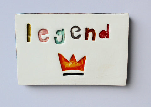Oblong Ceramic Tile - Legend
