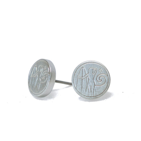 Wahine Surfer Silver Earrings