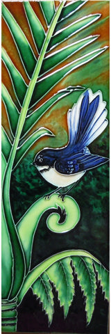 Green Fantail Long Ceramic Tile