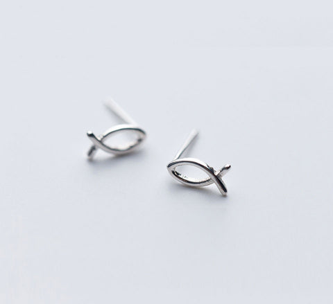 Sterling Silver Studs - Fishes