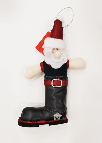 Gumboot Santa Decoration