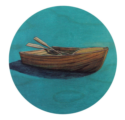 Dinghy - Plywood Wall Art