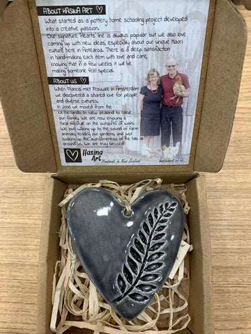 Ceramic Imprint Heart Fern