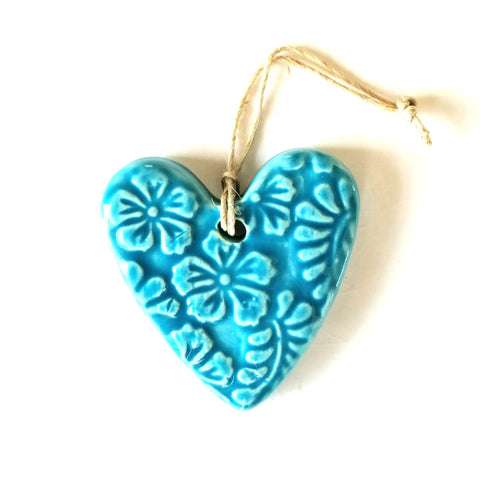 Handmade Ceramic Hearts  - Medium
