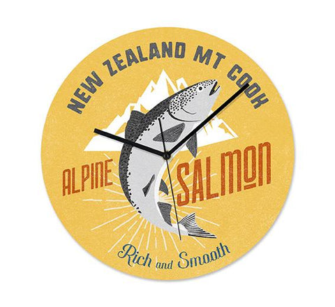 NZ Seafood Salmon Frameless Clock