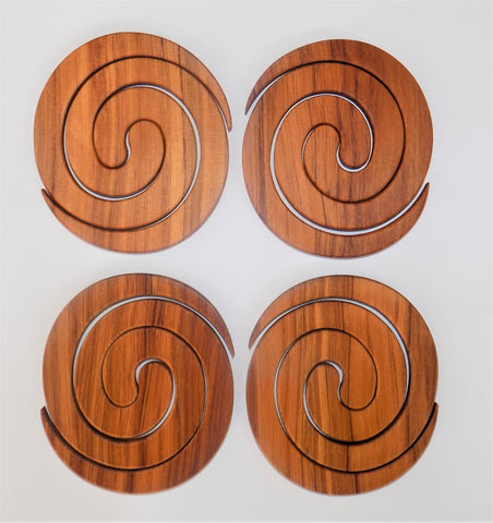 Coasters set of 4 rimu