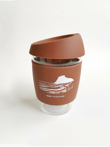 Reusable Glass Cup - Chocolate