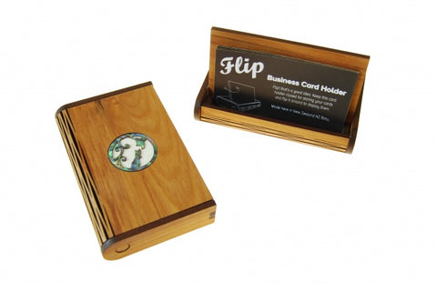Flip Business Card Holder -Map