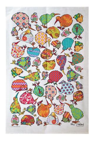 Tea Towel - Fun Kiwi