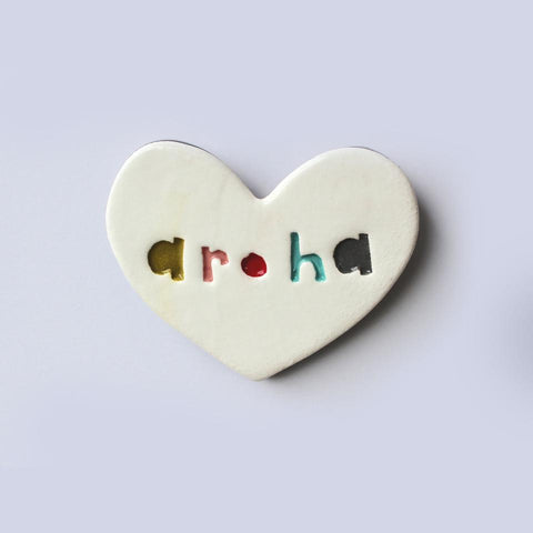 Ceramic Floating Heart Tile - Aroha