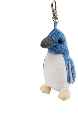 Birds Keyclip -  Blue Penguin