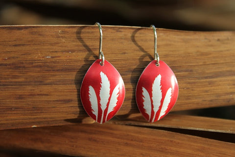 Aluminium Toetoe Earrings