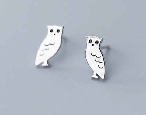 Sterling Silver Earrings - Owl
