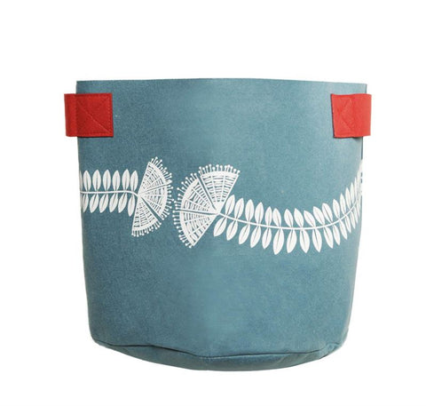Pohutukawa Teal & Red 7 Gallon Felt Bag