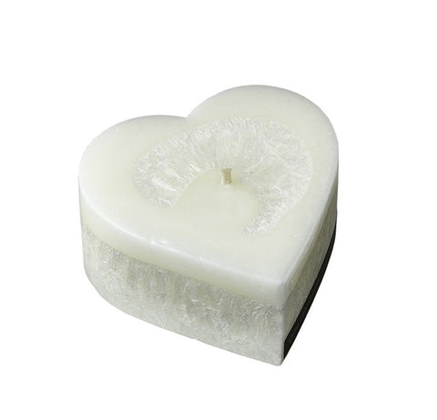 White Pinot Noir Heart Candle