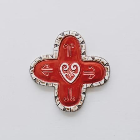 Ceramic Pacific Cross Red