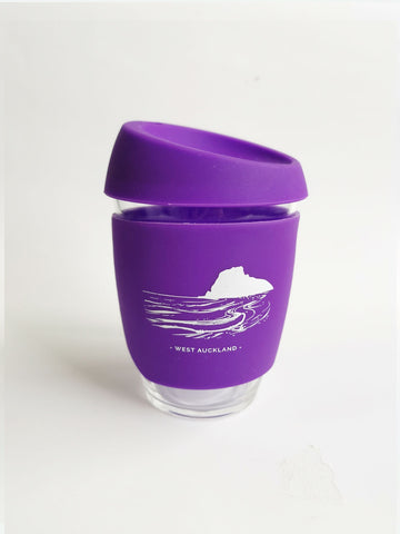Reusable Glass Cup - Purple