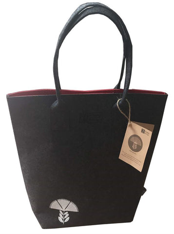 Pohutukawa Red & Grey Shoulder Tote