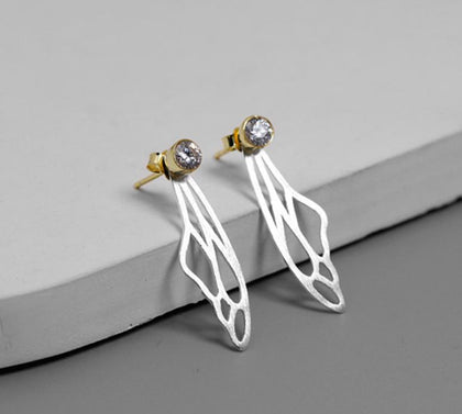 Sterling Silver Earrings - Butterfly Wings