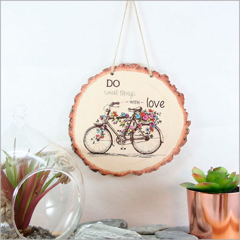 Wood Slice Art - Bicycle