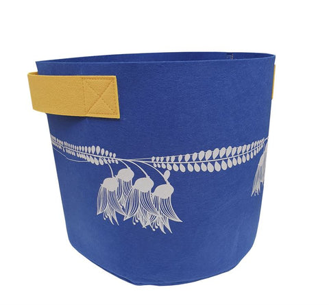 Kowhai Blue & Yellow 7 Gallon Felt Bag