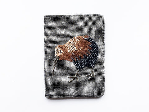 Copper/Navy Kiwi Passport Cover