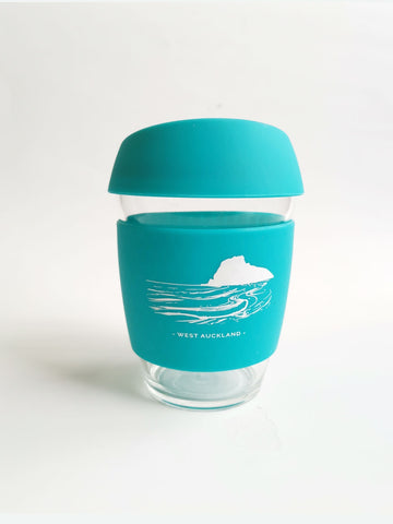 Reusable Glass Cup - Blue