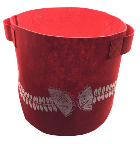 Pohutukawa Red 7 Gallon Felt Bag
